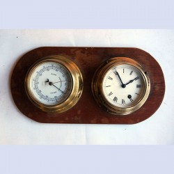 Ship Clock/Barometer AWC-136